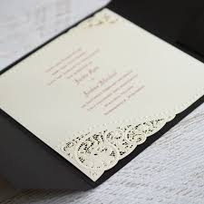 pearls and lace laser cut invitation invitations by dawn