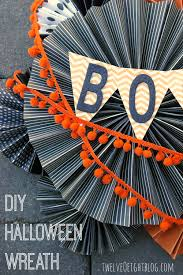 diy halloween boo wreath twelveoeight