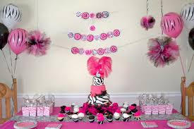 pink and black zebra party supplies for baby shower blog100 2566