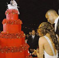 eva longoria and tony parker u0027s raspberry filed cake made in