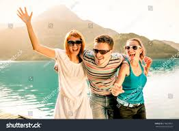 happy friends together during stock photo 218629867
