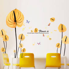 popular yellow wall decor buy cheap lots from new combination wall stickers bedroom living room sofa wife leaf background decoration sticker yellow