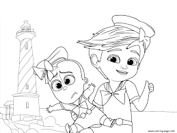 tim boss baby adventure coloring pages printable