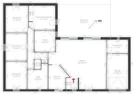plan de maison 4 chambres plain pied plan maison en l 4 chambres plan plain pied 4 1 plan maison 4