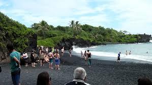 Sand Beach by Honokalani Black Sand Beach And Lava Tube Maui Youtube