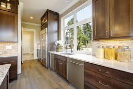 what color quartz goes with oak cabinets and stainless appliances the match kitchen countertop ideas with oak