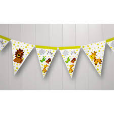 International Bunting Flags Bunting Jungle Animal 3m 17 Flags 170 X 240mm