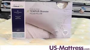 Tempurpedic Comfort Pillow Tempur Breeze Pillow Youtube