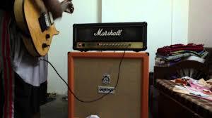 Orange Cabinet 4x12 Marshall Jcm 900 With Orange 4x12 Youtube