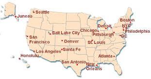atlanta city us map major cities in the usa enchantedlearningcom us map with major