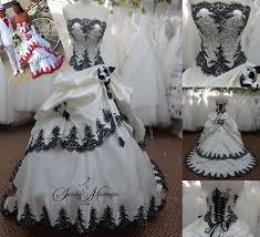 robe de mari e noir et blanc robe de mariée noir et blanc photos de robes