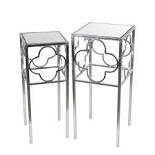 mirrored end table set elegant medina 2 piece end table set by rosdorf park savings