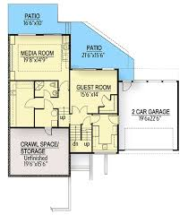 house plans with media room modern house plan with split level layout 737001lvl