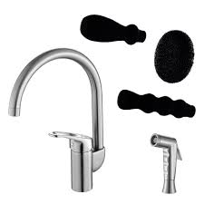 Brushed Nickel Kitchen Faucet Dish Genie Agrion Kitchen Faucet With Side Sprayer U0026 Washing