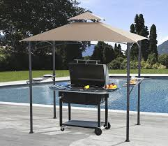 Outdoor Patio Grill Gazebo by Amazon Com Sunjoy L Gz238pst 11a Inca Grill Gazebo Patio Lawn
