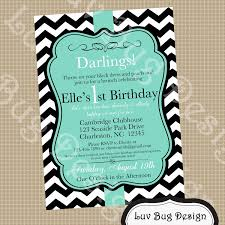 invitation template for birthday with dinner printable tiffany blue themed birthday party invite diy printable