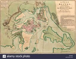 Boston Map 1776 by 1775 Boston Stock Photos U0026 1775 Boston Stock Images Alamy