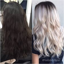 natural level 2 3 to a rooty blonde with a hint of lavender