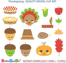 items similar to 20 sale thanksgiving clipart kawaii