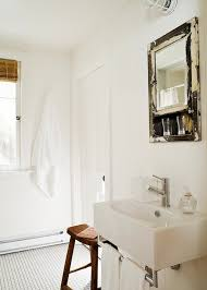 distressed mirror cottage bathroom jennifer worts design