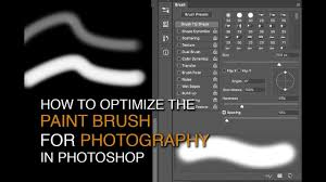 how to optimize the paint brush in photoshop youtube