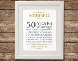 great anniversary gifts 50th anniversary gifts etsy