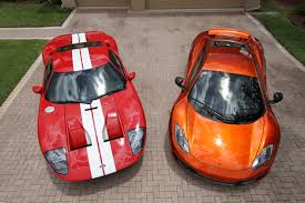 ford gt vs lamborghini murcielago mclaren mp4 12c volcano orange and ford gt and white