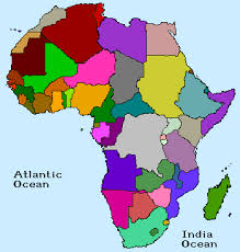 map of africa with country names jayzee africa map
