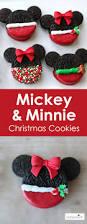 mickey u0026 minnie mouse christmas cookies mickey minnie mouse