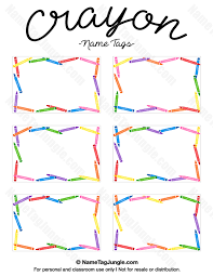 printable name tags printable crayon name tags