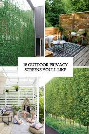 18 outdoor privacy screens you u0027ll like shelterness