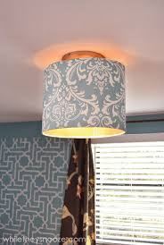 Diy Light Fixtures While They Snooze How To Cover An Ugly Light Fixture