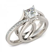 Jeulia Wedding Rings by Jeulia Interchangeable Princess Cut Created White Sapphire Wedding