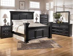 Signature Bedroom Furniture Bedroom Design Black Finished Bedroom Set With Mansion Bed