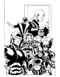 men wolverine colossus coloring u0026 coloring pages