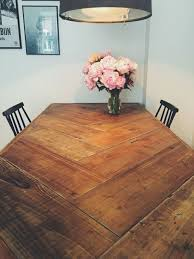 build a rustic dining room table herringbone table new wood project pinterest