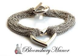 tiffany heart bracelet sterling silver images Tiffany co multi strand heart bracelet sterling silver 7 5in jpg