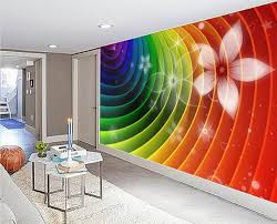 popular rainbow wall murals buy cheap rainbow wall murals lots abstract rainbow colorful flowers line the back wall tv sofa backdrop 3d wall murals wallpaper 3d
