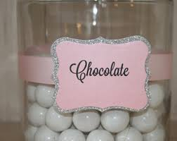 Candy Labels For Candy Buffet by Candy Buffet Etsy
