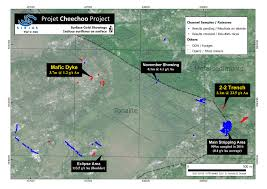 Radius On Map Sirios Resources Samples 3 1 Metres Of 23 5 G T Gold At Cheechoo