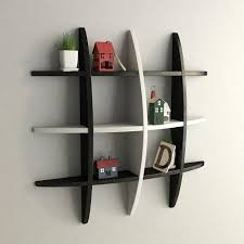 Skateboard Shelf Black U0026 Whitedecorative Wooden Wall Shelf U2013 Artesia Shop