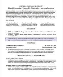 Finance Resume Sample by Finance Resume Examples 29 Word Pdf Documents Download Free