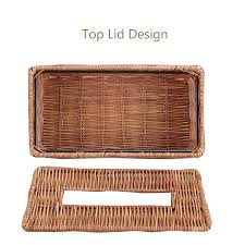 best rattan tissue box kleenex cover holder for home decoration
