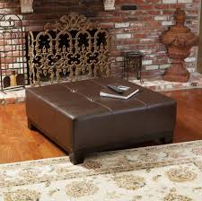 Square Leather Ottoman With Storage by Ottomans Square Tufted Ottoman Ottoman Storage Bench Cocktail