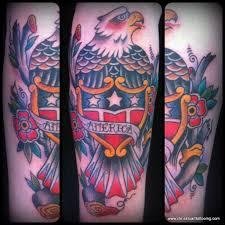 Eagle Tattoo Charlotte Nc | traditional eagle shield america tattoo by chris stuart www