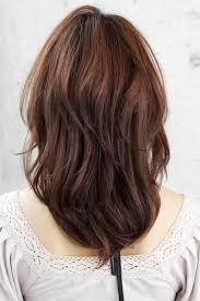 front and back views of medium length hair shoulder length layered haircuts back view medium layered hair