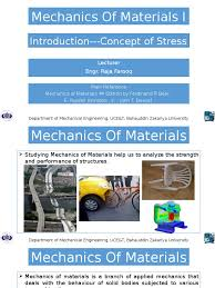 lecture 1 stress u2013strain analysis stress mechanics