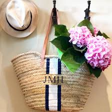 monogrammed basket the 6 best baskets for summer the grace tales