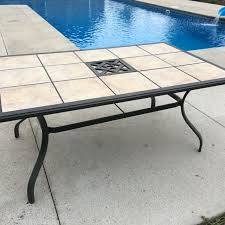 Find More 63x40x28 Patio Table With Removable Tiles Must Pickup In