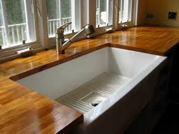 Undermount Sink In Butcher Block Countertop by Kitchen Island U0026 Carts Glamorous Brown Varnished Wooden